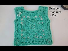 Blusa con flor para niña - YouTube Knit Or Crochet, Crochet Baby, Crochet Wedding Dresses, American Girl Dress, Baby Girl Tops, Summer Patterns, Baby Sweaters, Elegant Dresses, Boho Dress
