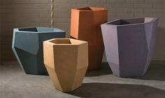 Quartz Series concrete planters | made by Phoenix, Arizona-based Kornegay Designs