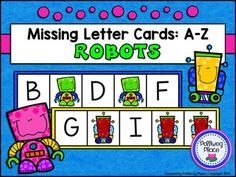 Missing Letter Cards: Robots ($)
