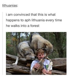 I actually think this happens when the Italy bros do that. Since their national animal is a wolf.