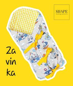 Návod na zavinovačku (střih zdarma), SHAPE-patterns.cz Sewing For Kids, Baby Sewing, Shape Patterns, Sewing Patterns, Baby Born, Handicraft, Pot Holders, Free Pattern, Diy And Crafts