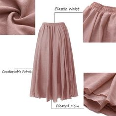 Stylish Gracila Women Casual Loose Cotton Pure Color Skirt - NewChic Mobile.