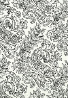 NORWICH PAISLEY, Black and White, T9287, Collection Avalon from Thibaut wallpaper