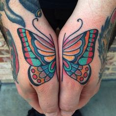 Shaun Topper as featured on www.swallowsndaggers.com #tattoo #tattoos #butterfly