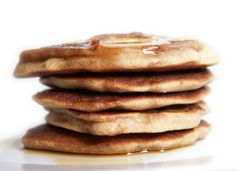 French Toast Pancakes: Add vanilla extract and cinnamon to your normal pancake batter. Tastes like French Toast in pancake form!