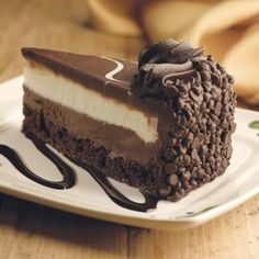 Olive Garden Copycat Recipes: Black Tie Mousse Cake - This kind of took a ridiculous amount of time to make, but SO worth it. Not exactly like Olive Garden, but close enough!