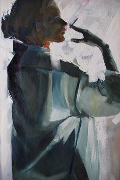 "Saatchi Art Artist: Fanny Nushka Moreaux; Oil 2012 Painting ""Chloé III"""