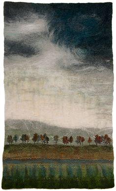 Brume. Valerie Wartelle, Yorkshire felt artist.