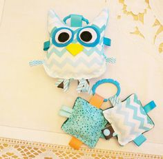 Hey, I found this really awesome Etsy listing at https://www.etsy.com/listing/157597455/baby-toys-owl-toy-set-with-crinkle