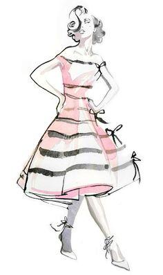 Jessine Hein Illustrator – Pink Fashion & Morbid Grunge Themes Illustrations