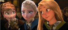 Elsa is perfect in ravenclaw. Anna is griffendor so good. Rapunzel can be either ravenclaw or hufflepuff in my opinion. Disney Hogwarts, Harry Potter Disney, Disney Crossovers, Disney Movies, Disney Characters, Jack Frost, Disney And Dreamworks, Disney Pixar, Merida