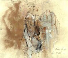 """Saatchi Art Artist Ute Rathmann; Drawing, """"Hommage à Beardsley XXIII"""" #art"""