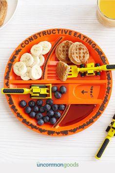 Construction Plate Utensils Gifts For Boyskids