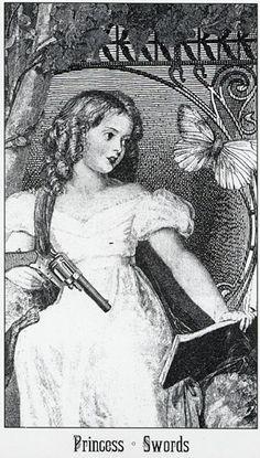 Princess of Swords - Victoria Regina Tarot by Sarah Ovenall, 1969 - Georg Patterson, 1960