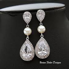 wedding pearl earrings - Google Search