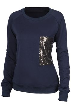 Shimmer with it-$19.99 Only! Free shipping&easy return! This sequins sweatshirt gonna make you shine tonight! Babe! Show it off at Cupshe.com