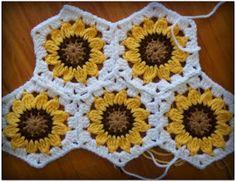 sunflower hexagons