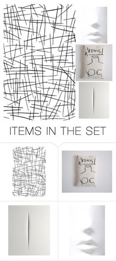 """Venus"" by info-3buu ❤ liked on Polyvore featuring art, Basquiat, artexpression and fontana"