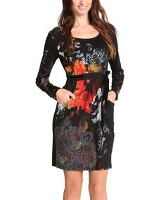 Love this Black Abstract Shift Dress on #zulily! #zulilyfinds