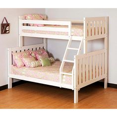 Canwood - Alpine II Twin over Full Bunk Bed, White: Kids' & Teen Rooms : Walmart.com $487