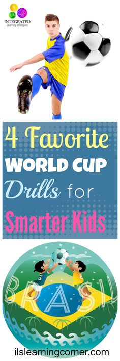 4 Favorite Soccer Drills learned from the World Cup to make Kids Smarter.