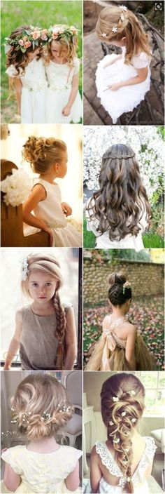 Coiffure mariage : 22 Adorable Flower Girl Hairstyles to Get Inspired - Flashmode Tendance Flower Girl Updo, Flower Girl Hairstyles, Trendy Hairstyles, Braided Hairstyles, Flower Girls, Short Haircuts, Female Hairstyles, Country Hairstyles, Toddler Hairstyles