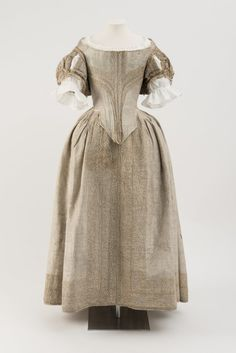 1660's The Silver Tissue Dress from the Fashion Museum Bath