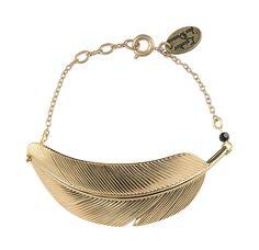 Bracelet plume DORE by L ATELIER DES DAMES