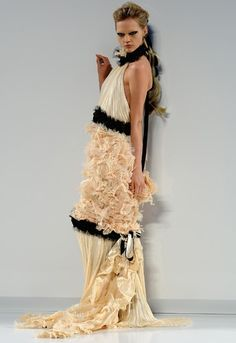 A model walks the runway at the Chanel Fashion Show during Paris Fashion Week Haute Couture A/W 2009/10 at Grand Palais on July 7, 2009 in Paris, France.