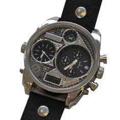 Relógio fashion oversize prateado | Relógios | | TriClick por R$82,90