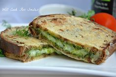 Parmesan Crusted Pesto Grilled Cheese