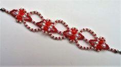 Valentine's Day Beaded bracelet. Jewelry making Beginners project