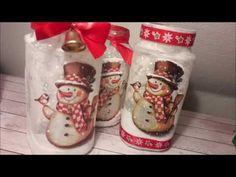 DIY - Karácsonyi mécsestartó kávés üvegből, karácsonyi dekoráció Gingerbread Cookies, Christmas Stockings, Holiday Decor, Desserts, Diy, Food, Youtube, Gingerbread Cupcakes, Ginger Cookies