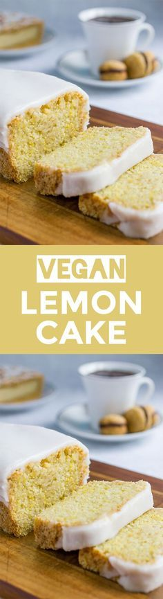 Try baking a vegan version of lemon cake. Light and zingy it also works well if you replace the flour and baking powder with gluten-free alternatives. Vegan Treats, Vegan Foods, Vegan Dishes, Vegan Dessert Recipes, Baking Recipes, Cake Recipes, Healthy Recipes, Healthy Snacks, Dinner Recipes