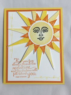 Annie San Martin - Craftistry -  stampin' up - ray of sunshine - greeting cards - sun cards