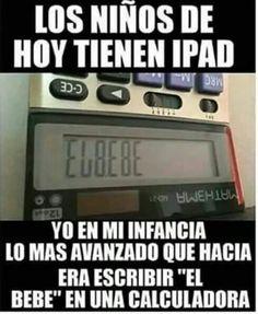 Mi infancia en una calculadora