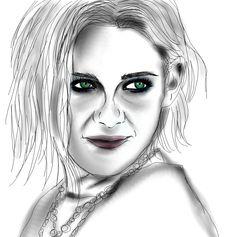 Just a weird kinda odd reminds me of Edward Scissor hands quick sketch of Kristen Stewart. Yeah.