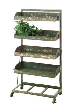The metal shelving unit is a great store fixture for apparel stores.  Use to hold folded clothing items, scarves, jewelry, handbags, shoes and so much more.