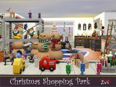 Christmas Shopping Park for fun. Two floors full of toys is a kids heaven! Found in TSR Category 'Sims 4 Community Lots' Last Christmas, Christmas Shopping, Christmas Cards, Christmas Wall Hangings, Sims Community, Sims Resource, Electronic Art, Round Rugs, Welcome Mats