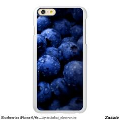 Blueberries iPhone 6/6s Plus Metalic Case. Silver, gold or rose gold.