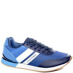 #Sneaker in tessuto blu.