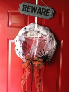 Dollar Store Halloween Wreath