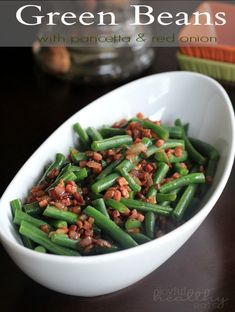 Green Beans with Pancetta and Red Onions | www.joyfulhealthyeats.com