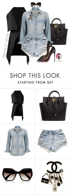 """""""Untitled #2741"""" by stylebydnicole ❤ liked on Polyvore featuring Sid Neigum, Michael Kors, maurices, Prada, Chanel and Christian Louboutin"""
