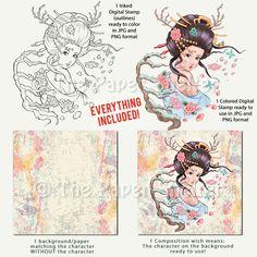 Winter Blossom - Digital Stamp