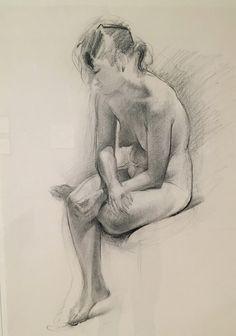 Wayne Thiebaud - Untitled (Seated Female Nude), 1992      Museum of Modern Art, San Francisco.