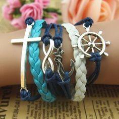 Fashionable Love Clock Table Braided Retro Bracelet