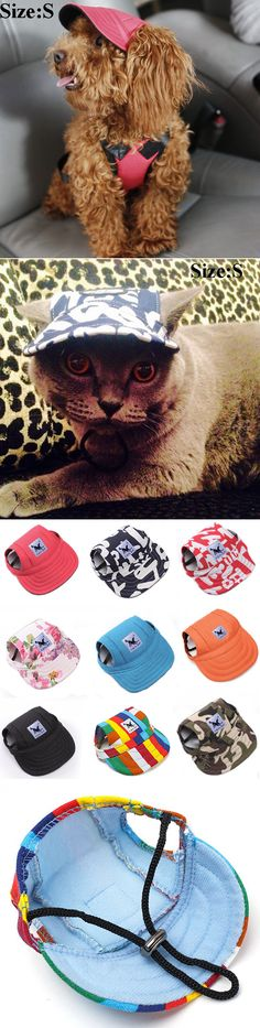 TAILUP Pet Dog Cat Baseball Hat Summer Canvas Cap Only For Small Pet Outdoor Hiking Accessories