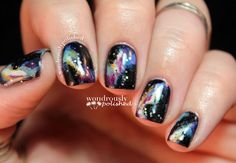 April Nail Art Challenge - Galaxy Nails