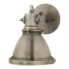 Fulton Small Sconce in Industrial Steel - Wall Lamps / Sconces - Lighting - Products - Ralph Lauren Home - RalphLaurenHome.com  $570